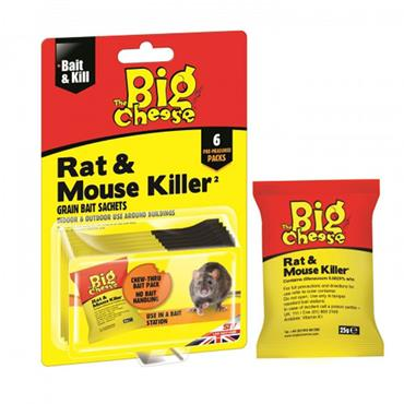 The Big Cheese Rat & Mouse Killer Grain Bait