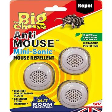 The Big Cheese Mouse Mini Sonic Repellent 3pk