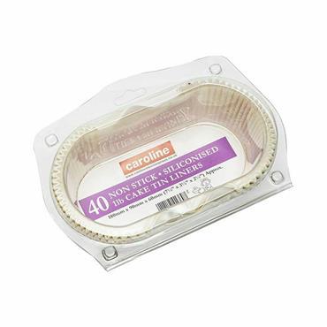 Caroline Packaging 1lb Loaf Tin Liners 40pk