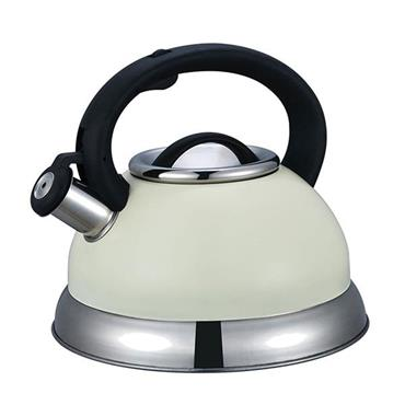 Steelex Cream Whistling Kettle 2.7L