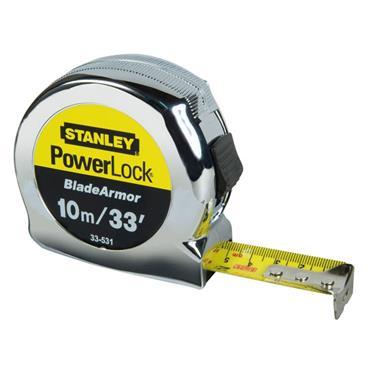 Stanley PowerLock BladeArmor Pocket Tape 10m
