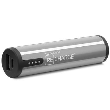 Techlink 3400 Portable USB Charger Grey