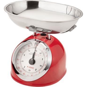 Judge Kitchen 5kg Traditional Scale Red