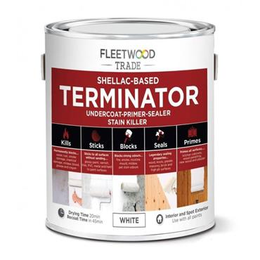 Fleetwood Terminator Shellac-Based Undercoat Primer White 500ml