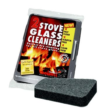 Trollull Stove Glass Cleaner Pad (2 Pack)