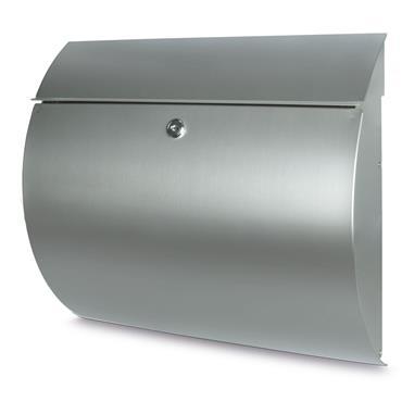 Burg Wachter Post Box Toscana Stainless Steel