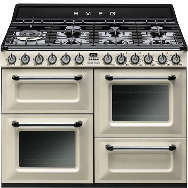 SMEG 110 Dual Fuel Cooker Cream