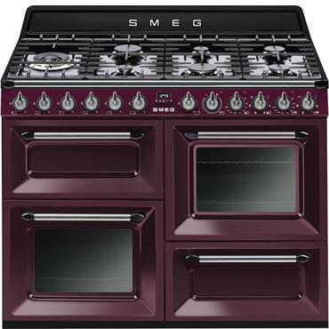SMEG 110 Dual Fuel Cooker Red