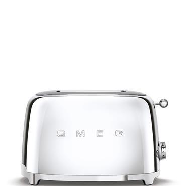 Smeg 2 Slice Chrome Toaster