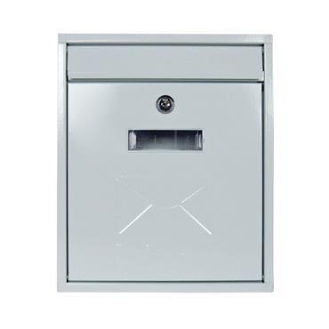 Contemporary Post Box White