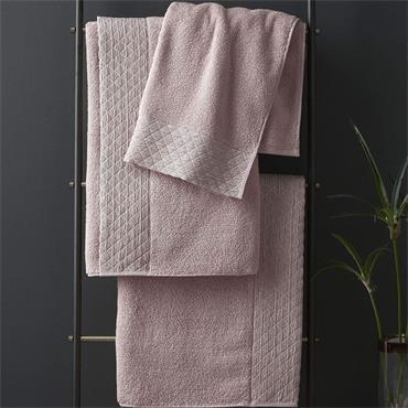 Catherine Lansfield Zero Twist Sparkle Blush Bath Sheet