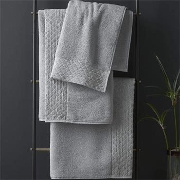 Catherine Lansfield Zero Twist Sparkle Silver Bath Sheet