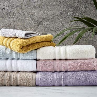 Catherine Lansfield Zero Twist Ochre Bath Sheet