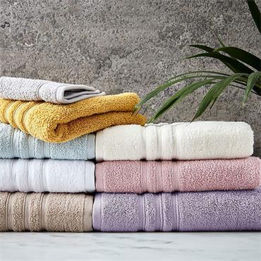 Catherine Lansfield Zero Twist Bath Towel Cream