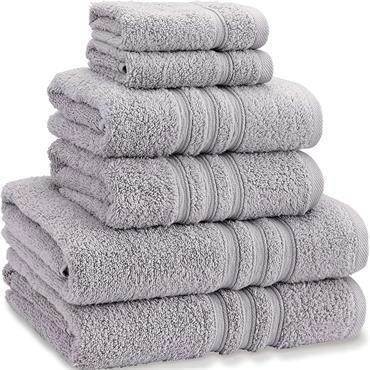 Catherine Lansfield Zero Twist Silver Bath Towel