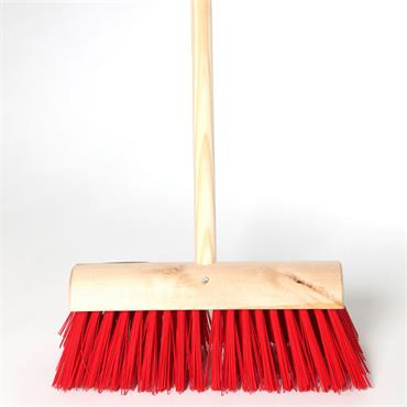 "Varian 14"" Red PVC Broom with Handle"