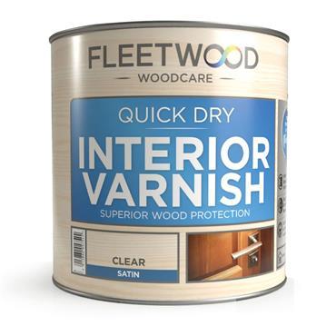 Fleetwood Quick Dry Interior Varnish Clear Gloss 1L