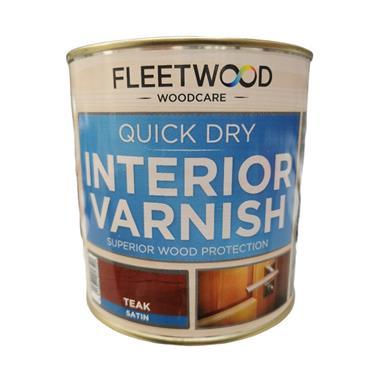 Fleetwood Quick Dry Satin Varnish Teak 1L