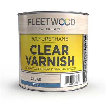Fleetwood Oil Based Satin Varnish Clear 1L