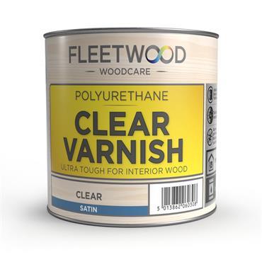 Fleetwood Oil Based Satin Varnish Clear 250ml