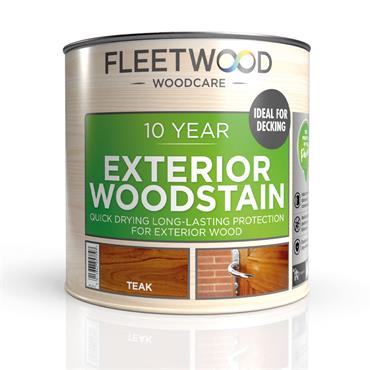 Fleetwood Exterior Woodstain Teak 1L