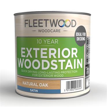 Fleetwood Exterior Woodstain Natural Oak 2.5L