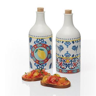 KitchenCraft World Of Flavour Ceramic Oil & Vinegar Set 500ml
