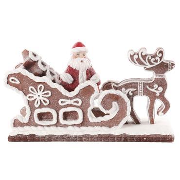 Mercer 26cm Resin Santa On Sleigh