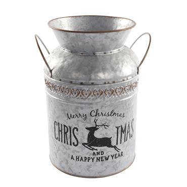 Mercer 29cm Metal Christmas Milk Churn Planter