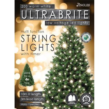 Mercer 200 Warm White LED Ultrabrite Timer Lights