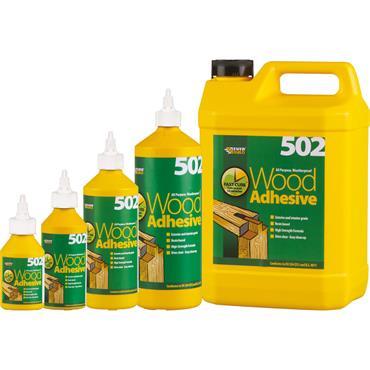 Everbuild 502 All Purpose Weatherproof Wood Adhesive 1L