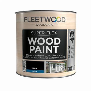 Fleetwood Super Flex Wood Paint Black 1L