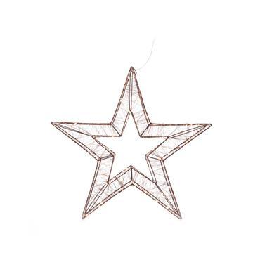 Mercer 28cm Star Motif 3D Copper 60 Warm White LED