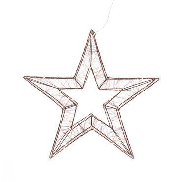 Mercer 38cm Star Motif 3D Copper 80 Warm White LED