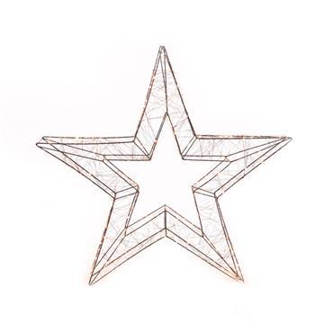 Mercer 58cm Star Motif 3D Copper 180 Warm White LED