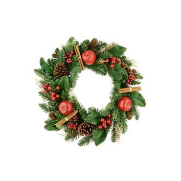 Christmas Lodge Wreath 60cm