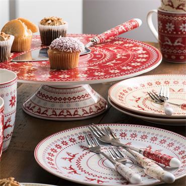 Aynsley Fairisle Pastry Set 7pce