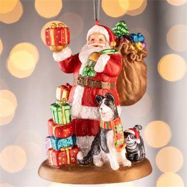 Aynsley Santa Leaving Gifts Hanging Ornament