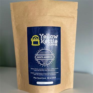 Yellow Kettle Coffee South American Ground Beans 250g