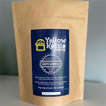 Yellow Kettle Coffee South American Whole Beans 250g