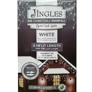 Mercer 240 White LED Connectable Snowfall Icicle Lights