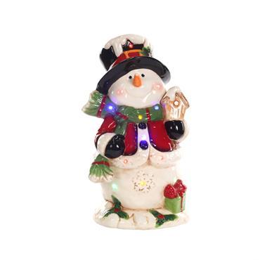 LED & Music Snowman 26.5cm