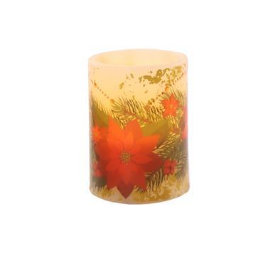 Mercer 10cm LED Floral Candle