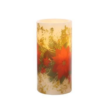 Mercer 15cm LED Floral Candle