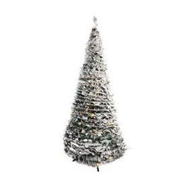 6ft Prelit Frosted Snowy Pop Up Christmas Tree