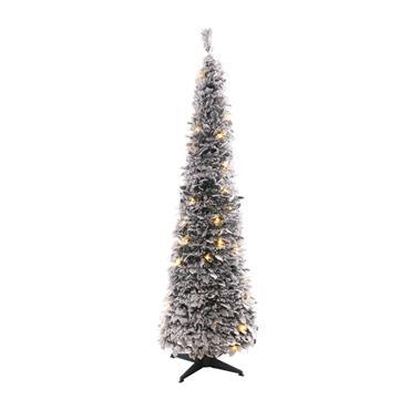 Mercer 180cm Snowy Holly Pop Up Tree Warm White LEDs