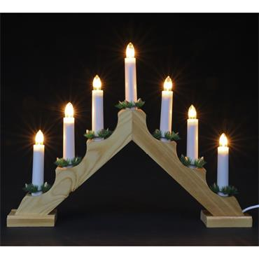Mercer Static Wooden Candle Arch 7 Lights