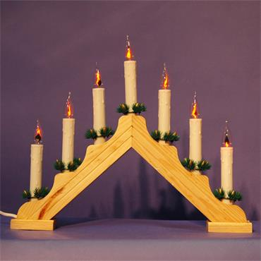 Mercer Flickering Wooden Candle Arch 7 Lights