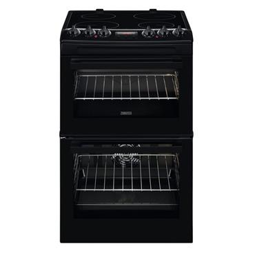 Zanussi 55cm Electric Double Cavity Cooker