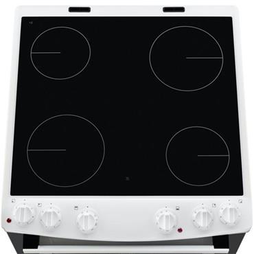 Zanussi Cooker 60cm Double Oven Ceramic Hob White